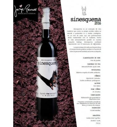 Sinesquema 2017 * Jorge Piernas, Vino tinto, Monastrell, Syrah