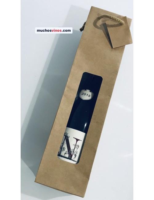Bolsa REGALO ecológica Kraft (para 1 botella de vino) Bolsa vacía para combinar con pedidos de vino.