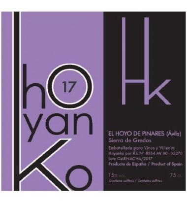 Hoyanko 2017 - Vino tinto, Garnacha, Viñas viejas, Cebreros, Sierra de Gredos, Ávila