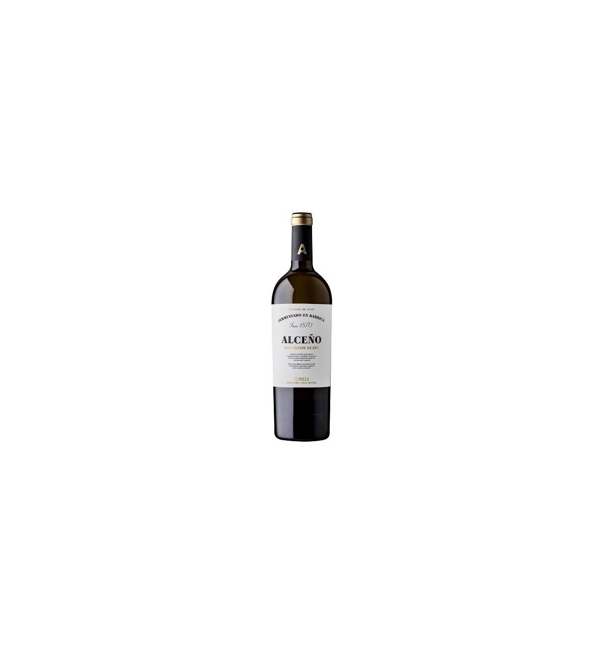 Alceño Blanco 100% Sauvignon Blanc Fermentado en Barrica 2019 * Jumilla