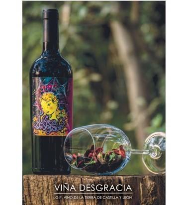 Viña Desgracia 2017 Tempranillo - 1 botella  (Servicio directo desde la bodega, portes incluidos)