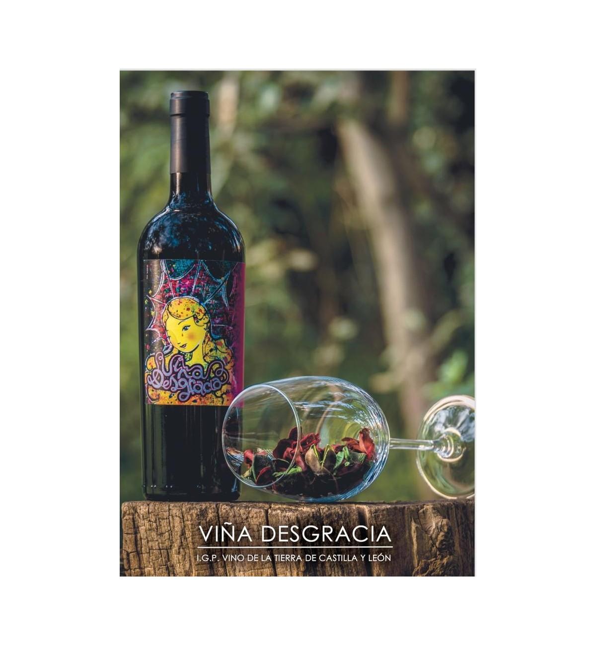 Viña Desgracia 2017 Tempranillo - 6 botellas  (Servicio directo desde la bodega, portes incluidos)