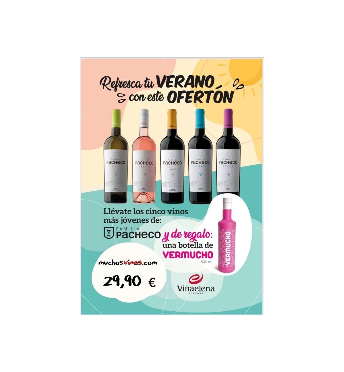 *PACK 5 Vinos Jovenes Viña Elena + VERMUCHO 500 ml de REGALO, Jumilla
