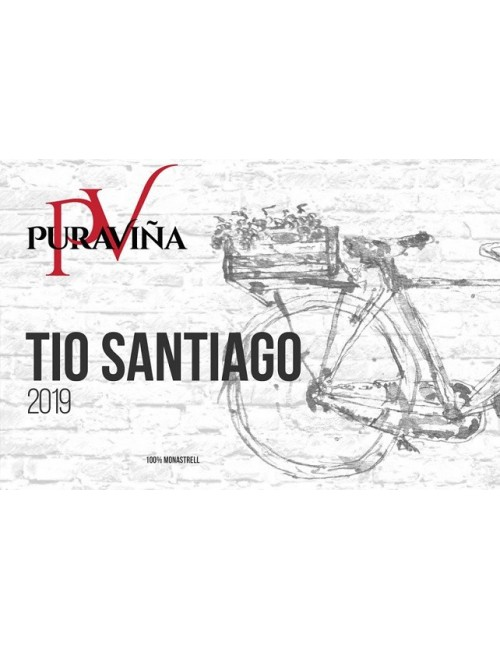 Pura Viña Tío Santiago 2019, Vino tinto, Monastrell