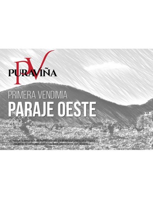 Pura Viña Paraje Oeste 2019, Vino tinto, Monastrell