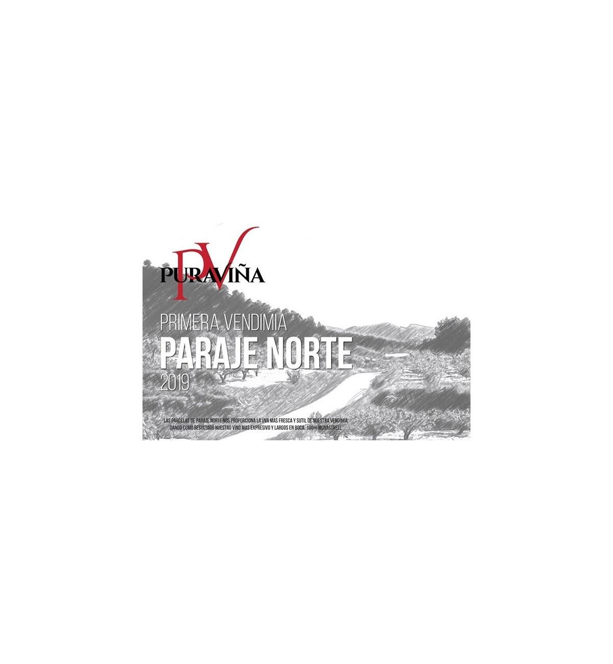 Pura Viña Paraje Norte 2019, Vino tinto, Monastrell