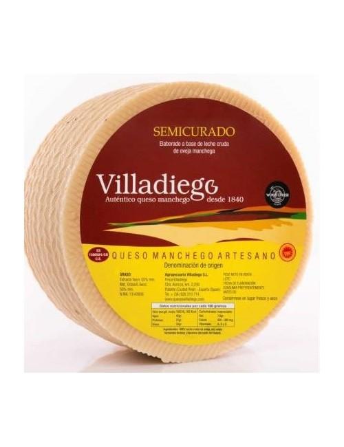 QUESO D.O. Manchego Artesano Semicurado 2.5 kg Aprox.