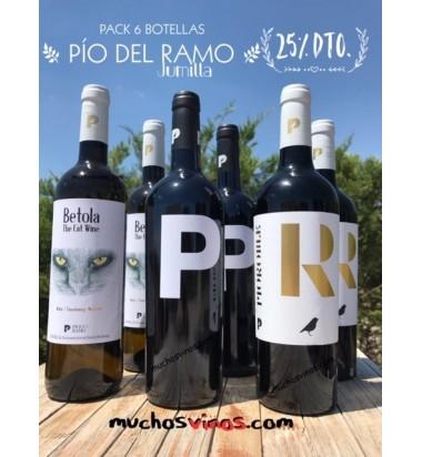 *PACK Pío del Ramo, 6 botellas, DOP Jumilla, Monastrell