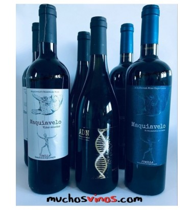 *PACK BLACKFRIDAY Maquiavelo 6 botellas, Monastrell, Sauvignon Blanc,  Jumilla