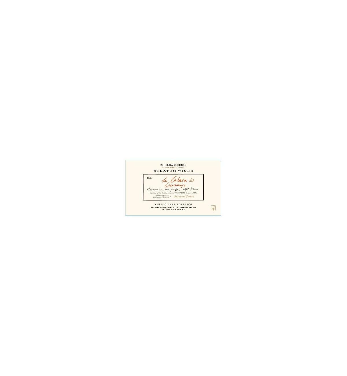 La Calera del Escaramujo 2019 - Bodega Cerrón - Stratum Wines, Monastrell, Fuente Álamo, DOP Jumilla