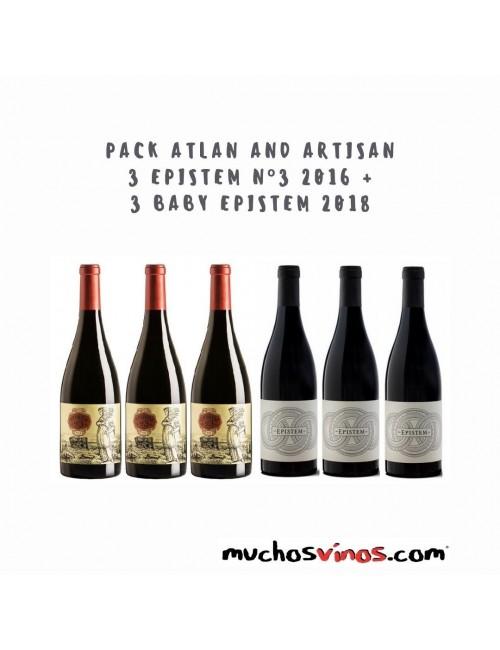 """PACK Atlan and Artisan 3 Botellas de Epistem nº 3 2015 + 3 Botellas """"Baby"""" Epistem 2018"""