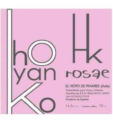 Hoyanko Rosae 2018 - Vino rosado, Garnacha, Albillo Real, Viñas viejas, Cebreros, Ávila