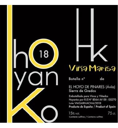 Hoyanko Viña Marisa 2018 -Garnacha, Viñas viejas, Cebreros, Sierra de Gredos,Ávila