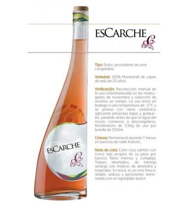 Escarche Vino de Hielo + 2 copas * Vino Dulce, Jumilla, Monastrell