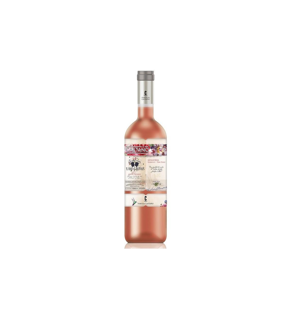 Castaño Rosado Semidulce 2017 * Días, tardes, noches de vino y rosas, Vino Rosé, Yecla, Monastrell