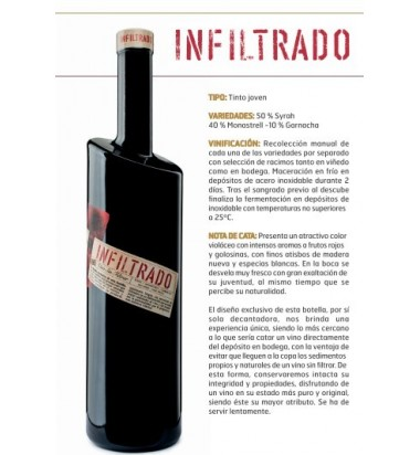Infiltrado 2019 * Vino Tinto, Jumilla, Syrah, Monastrell, Garnacha, Hacienda del Carche