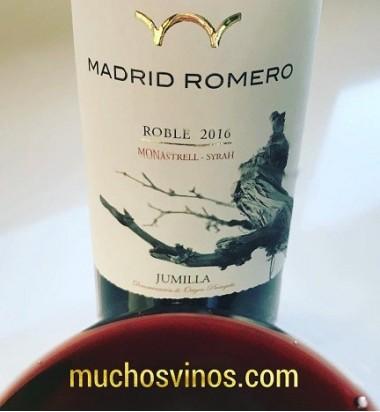 Tinto Roble Madrid Romero 2016 * Monastrell, Syrah, Jumilla, Vino Tinto