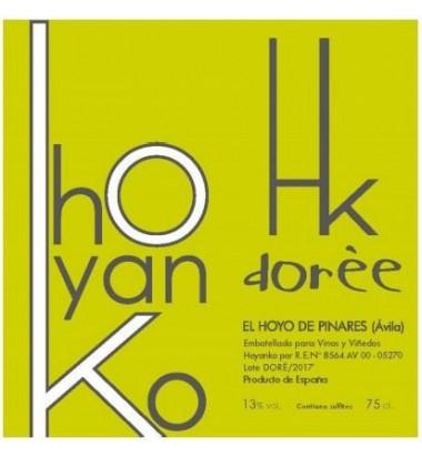 Hoyanko Dorée 2018 - Vino blanco, Chasselas Doré, Viñas Viejas, Cebreros, Ávila