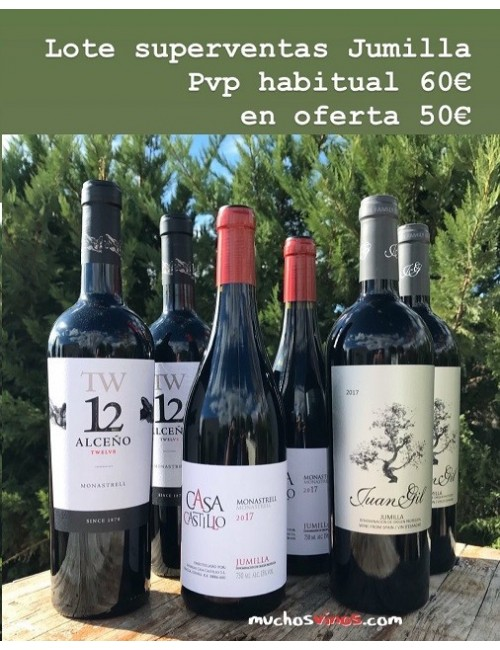 Pack SUPERVENTAS Jumilla Vino tinto Alceño, Casa Castillo, Juan Gil