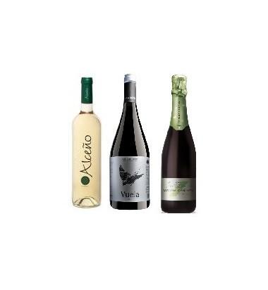 Pack Celebración, Vino Blanco Alceño + Tinto Vuela Ribera del Duero + Cava Ecológico