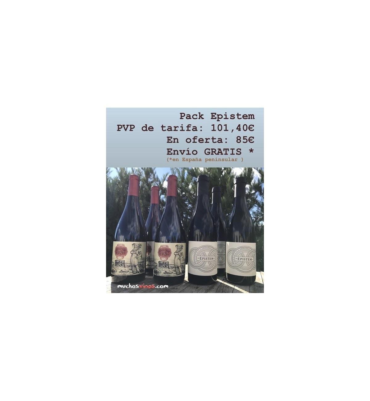 Pack EPISTEM de Atlan & Artisan, gastos de ENVÍO GRATIS, vino tinto, Monastrell, viñas viejasalle, Pío del Ramo